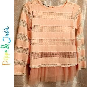 Pippa & Julie Pale Pink/Peach Top Size 14